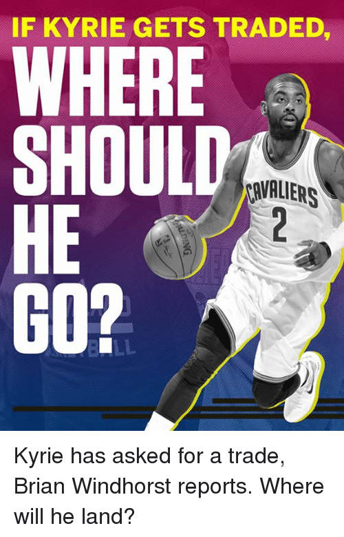 Memes, 🤖, and Will: IF KYRIE GETS TRADED  WHERE  SHOULD  HE  AVALIERS Kyrie has asked for a trade, Brian Windhorst reports.  Where will he land?