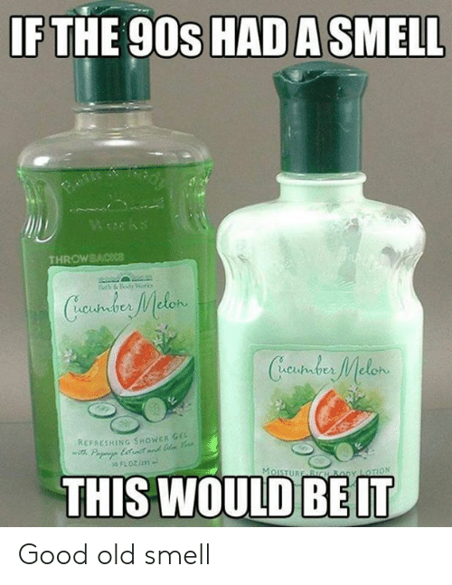 Dank, Shower, and Smell: IF THE 90s HAD A SMELL  Wwks  THROWBACKce  Beth &Body Worko  Cundus Melen  Creustder Melon  REFAESHING SHOWER GE  Pa ett  THIS WOULD  MoISTURE BICH By LOTION Good old smell