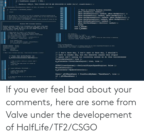 csgo: If you ever feel bad about your comments, here are some from Valve under the developement of HalfLife/TF2/CSGO