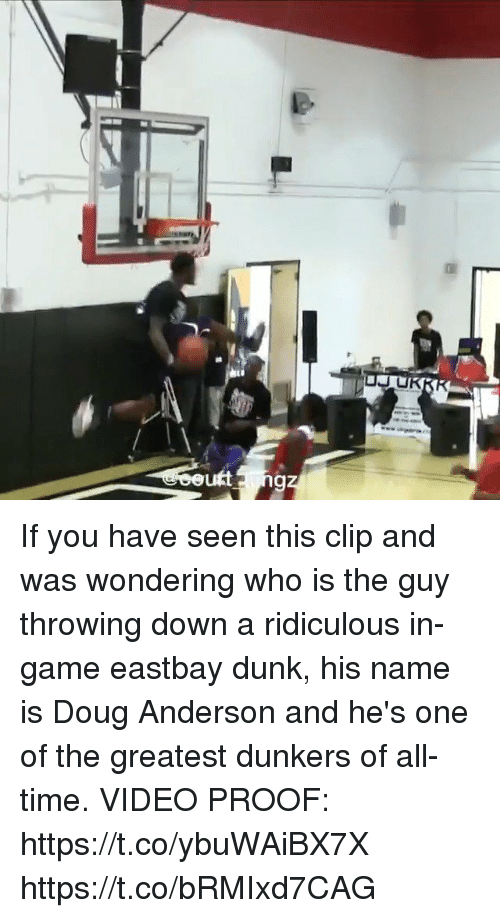 Doug, Dunk, and Eastbay: If you have seen this clip and was wondering who is the guy throwing down a ridiculous in-game eastbay dunk, his name is Doug Anderson and he's one of the greatest dunkers of all-time.   VIDEO PROOF: https://t.co/ybuWAiBX7X https://t.co/bRMIxd7CAG