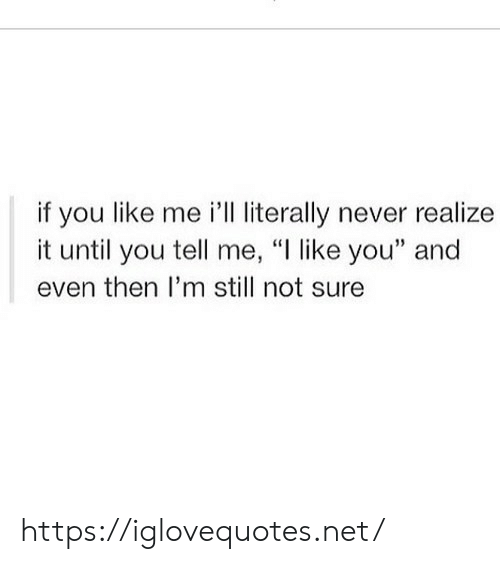 """Never, Net, and You: if you like me 'lL literally never realize  it until you tell me, """"I like you"""" and  even then I'm still not sure https://iglovequotes.net/"""