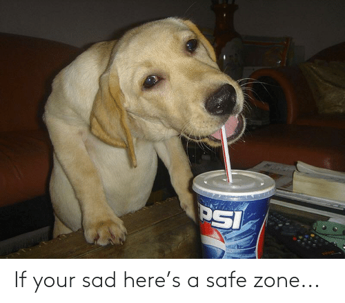 Safe Zone: If your sad here's a safe zone...