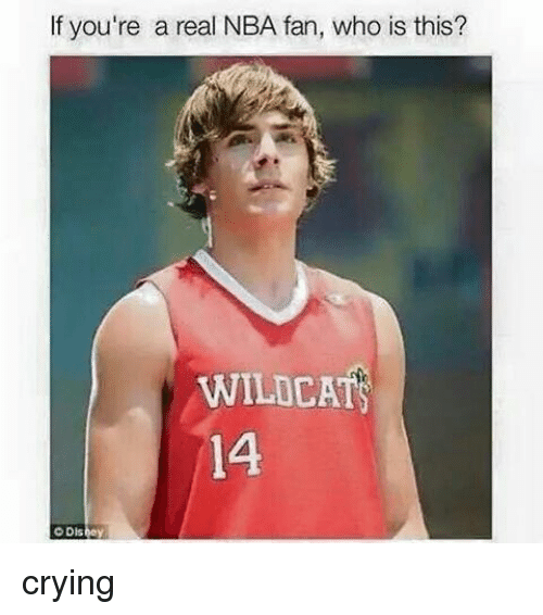 Crying, Nba, and Black Twitter: If you're a real NBA fan, who is this?  WILDCAT  14 crying