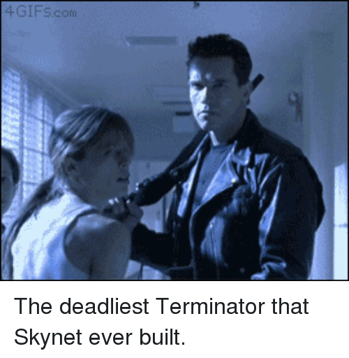 Funny, Terminator, and Dog: IFs.com The deadliest Terminator that Skynet ever built.