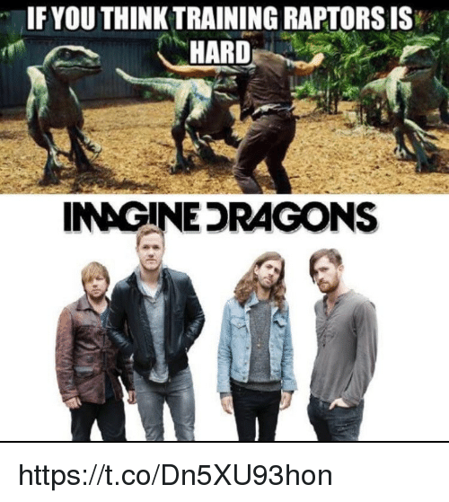 Memes, 🤖, and Think: IFYOU THINK TRAINING RAPTORS IS  HARD  INAGINEDRAGONS https://t.co/Dn5XU93hon