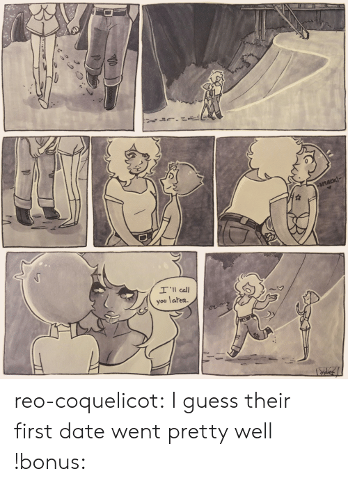 Tumblr, Blog, and Date: Il call  you later. reo-coquelicot:  I guess their first date went pretty well !bonus: