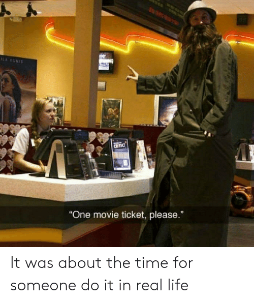 """Life, Movie, and Time: ILA KUNIS  CRTIC  """"One movie ticket, please."""" It was about the time for someone do it in real life"""