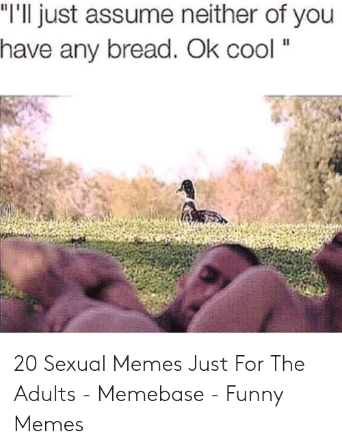 """Dirty Sex Memes: """"I'll just assume neither of you  have any bread. Ok cool """" 20 Sexual Memes Just For The Adults - Memebase - Funny Memes"""