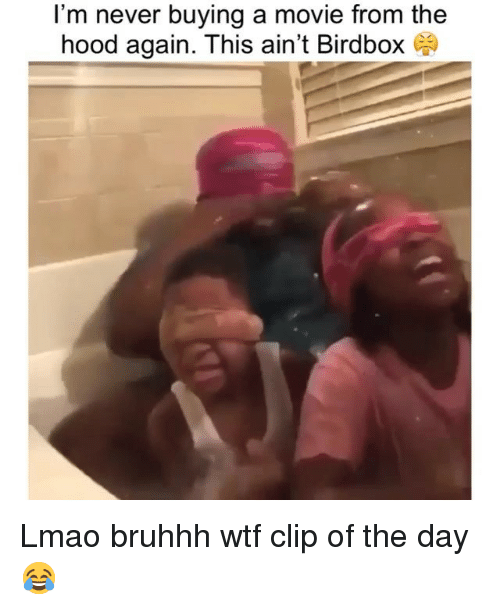 Bruhhh: I'm never buying a movie from the  hood again. This ain't Birdbox Lmao bruhhh wtf clip of the day 😂