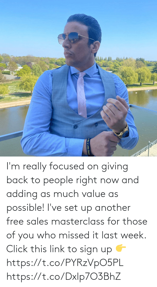 sales: I'm really focused on giving back to people right now and adding as much value as possible! I've set up another free sales masterclass for those of you who missed it last week.  Click this link to sign up 👉 https://t.co/PYRzVpO5PL https://t.co/Dxlp7O3BhZ