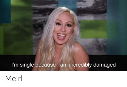 MeIRL, Single, and Because: I'm single because I am incredibly damaged Meirl