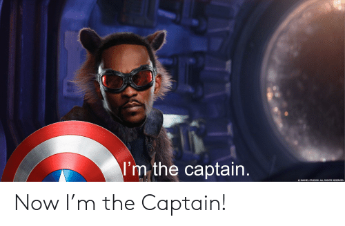 Marvel Comics, Marvel, and Captain Marvel: I'm the captain.  MARVEL STUDIOS. ALL RIGHTS RESERVED. Now I'm the Captain!