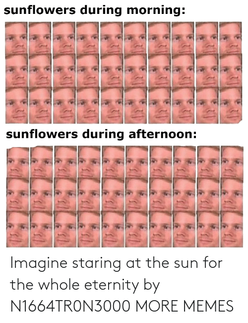 the sun: Imagine staring at the sun for the whole eternity by N1664TR0N3000 MORE MEMES