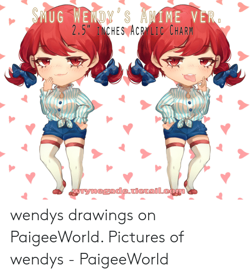 "Paigeeworld: IME VE  MUG WENDY SANI R  2.5"" INCHES ACRALIC CHAR wendys drawings on PaigeeWorld. Pictures of wendys - PaigeeWorld"