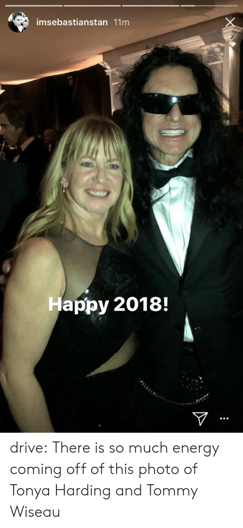 tonya harding: imsebastianstan 11m  Happy 2018! drive: There is so much energy coming off of this photo of Tonya Harding and Tommy Wiseau