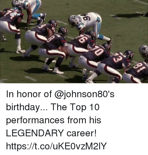 Birthday, Memes, and 🤖: In honor of @johnson80's birthday...  The Top 10 performances from his LEGENDARY career! https://t.co/uKE0vzM2lY