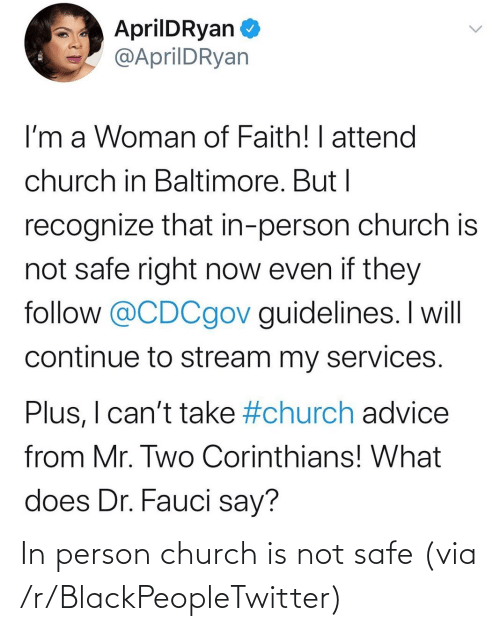 Church: In person church is not safe (via /r/BlackPeopleTwitter)