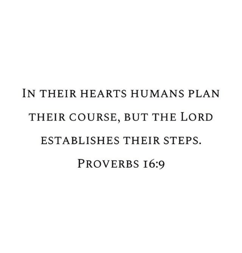 Hearts, Lord, and Proverbs: IN THEIR HEARTS HUMANS PLAN  THEIR COURSE, BUT THE LORD  ESTABLISHES THEIR STEPS.  PROVERBS I6:9