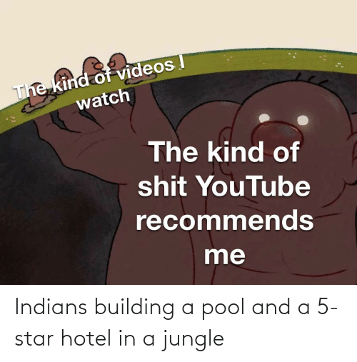 Pool: Indians building a pool and a 5-star hotel in a jungle