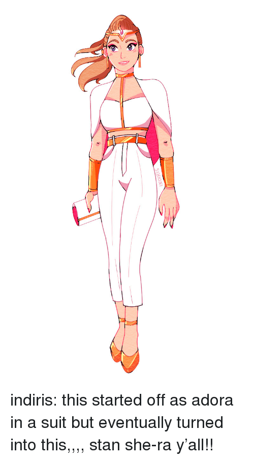 Stan, Target, and Tumblr: INDIRIS indiris:  this started off as adora in a suit but eventually turned into this,,,, stan she-ra y'all!!