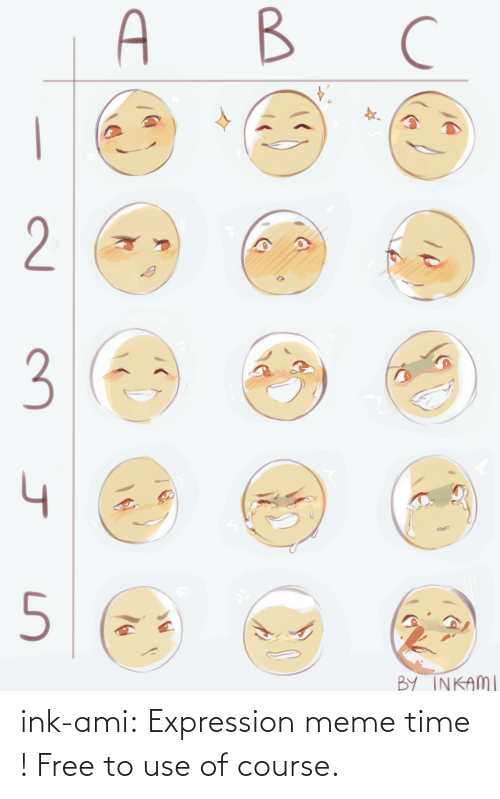 of course: ink-ami: Expression meme time ! Free to use of course.