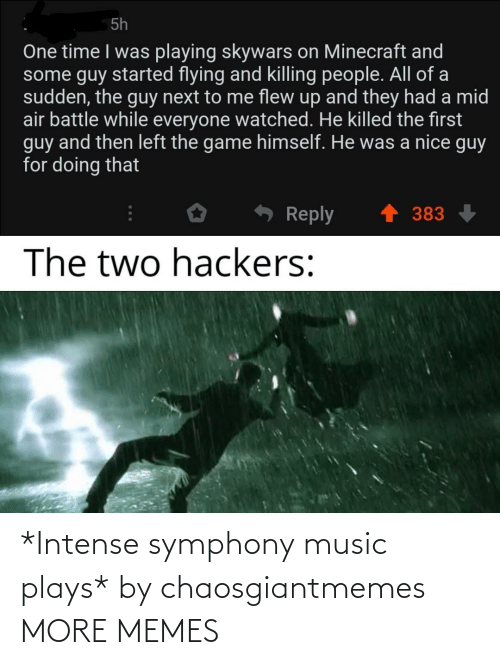 Music: *Intense symphony music plays* by chaosgiantmemes MORE MEMES