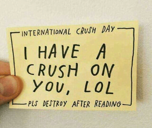 Crush, International, and Day: INTERNATIONAL CRUSH DAy  I HAVE A  CRUSH ON  YOU, LO L  PLS DEJTROy AFTER READING