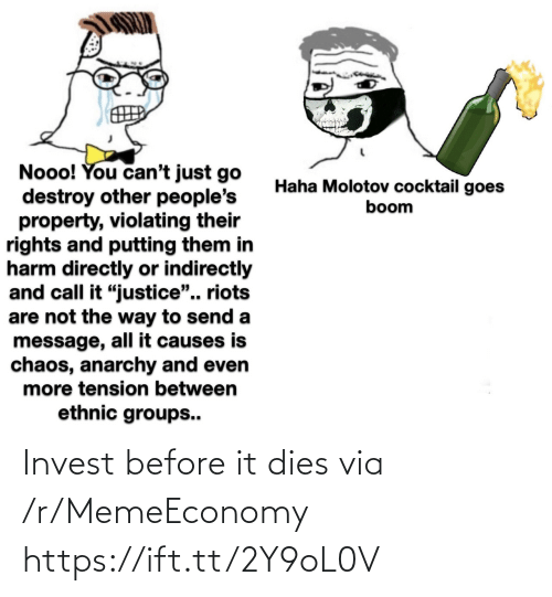 Dies: Invest before it dies via /r/MemeEconomy https://ift.tt/2Y9oL0V