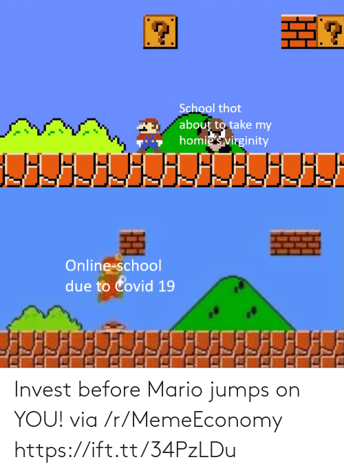 Mario: Invest before Mario jumps on YOU! via /r/MemeEconomy https://ift.tt/34PzLDu
