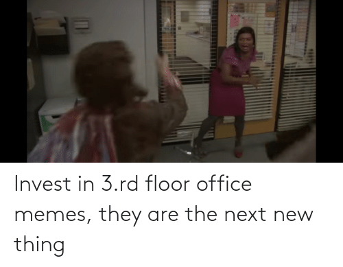 Office Memes: Invest in 3.rd floor office memes, they are the next new thing