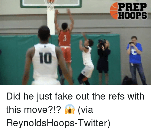 The Ref: IO  PREP  HOOPS Did he just fake out the refs with this move?!? 😱 (via ReynoldsHoops-Twitter)