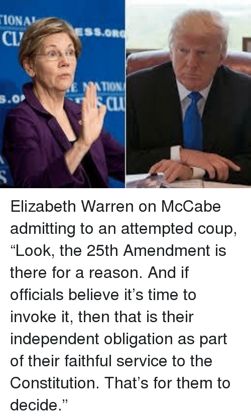 Elizabeth Warren, Constitution, and Time: IONA  CL