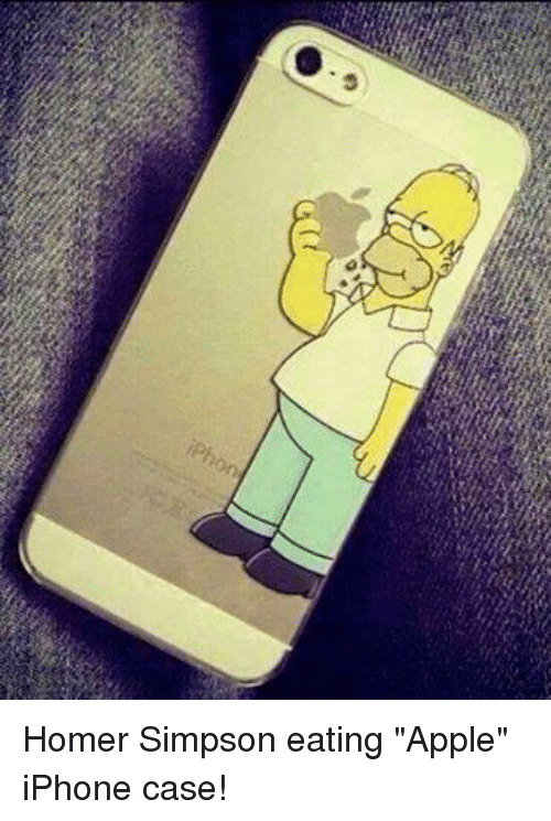 "Apple, Homer Simpson, and Iphone: iPhon Homer Simpson eating ""Apple"" iPhone case!"