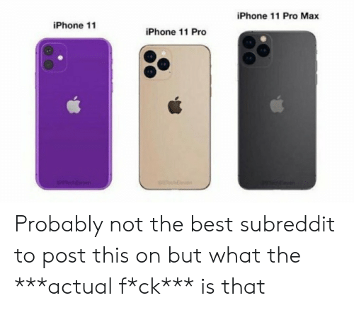 What The Actual F: iPhone 11 Pro Max  iPhone 11  iPhone 11 Pro  STeichE  chleven Probably not the best subreddit to post this on but what the ***actual f*ck*** is that
