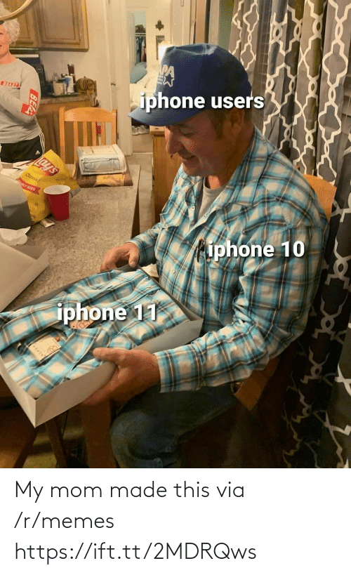 Ift Tt: iphone users  BEAST  Lay's  Classic  LY SIZE  iphone 10  iphone 11  BEA My mom made this via /r/memes https://ift.tt/2MDRQws