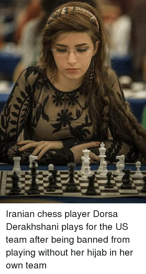 hijab: Iranian chess player Dorsa Derakhshani plays for the US team after being banned from playing without her hijab in her own team