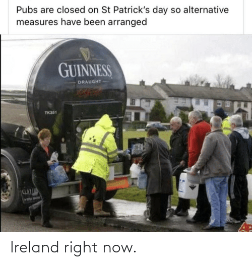 Ireland: Ireland right now.