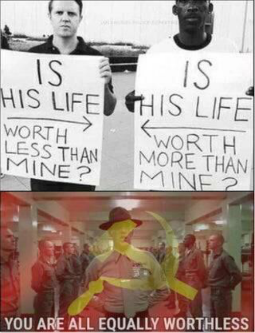 Is Is: IS  IS  HIS LIFEHIS LIFE  WORTH  LESS THAN  MINE?  WORTH  MORE THAN  MINE 2  YOU ARE ALL EQUALLY WORTHLESS