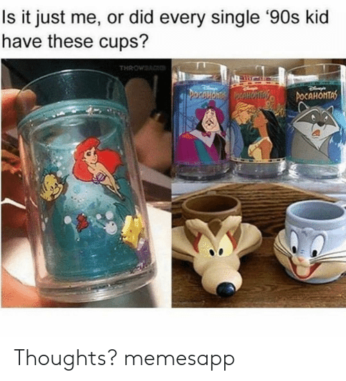 90s kid: Is it just me, or did every single '90s kid  have these cups? Thoughts? memesapp