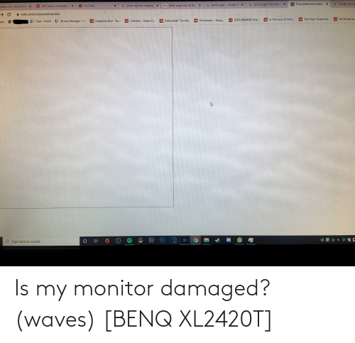 Waves: Is my monitor damaged? (waves) [BENQ XL2420T]