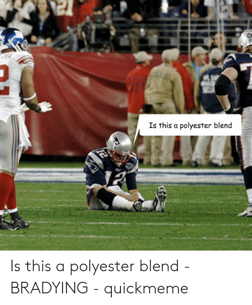 Bradying Meme: Is this a polyester blend  2 Is this a polyester blend - BRADYING - quickmeme