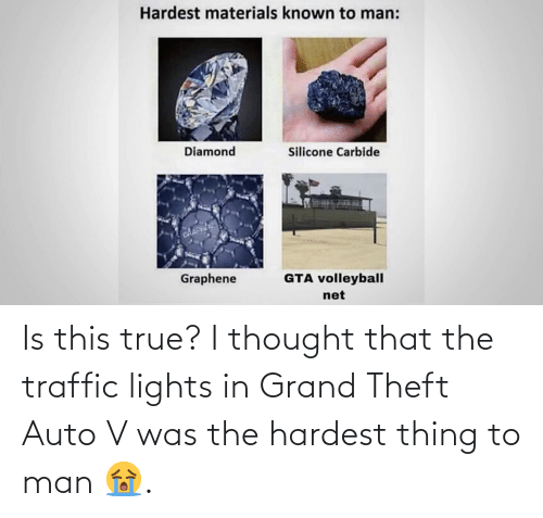 Traffic: Is this true? I thought that the traffic lights in Grand Theft Auto V was the hardest thing to man 😭.