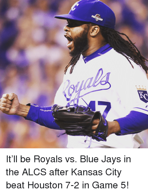 Blue Jay: It'll be Royals vs. Blue Jays in the ALCS after Kansas City beat Houston 7-2 in Game 5!