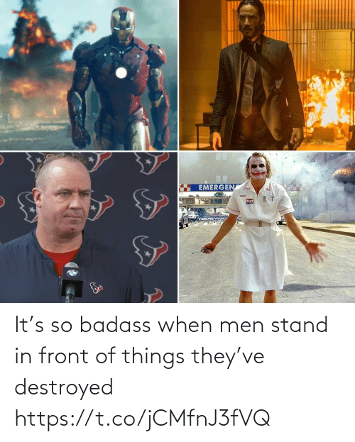 Badass: It's so badass when men stand in front of things they've destroyed https://t.co/jCMfnJ3fVQ