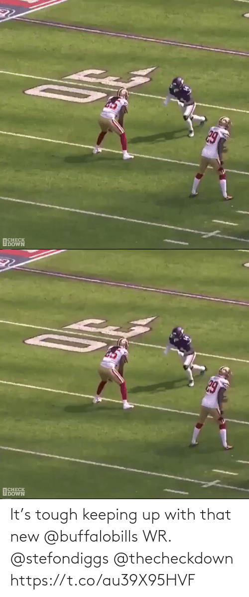 new: It's tough keeping up with that new @buffalobills WR. @stefondiggs @thecheckdown https://t.co/au39X95HVF