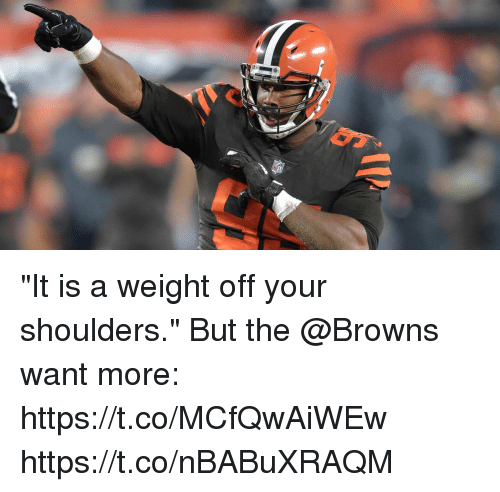 "Memes, Browns, and 🤖: ""It is a weight off your shoulders.""  But the @Browns want more: https://t.co/MCfQwAiWEw https://t.co/nBABuXRAQM"