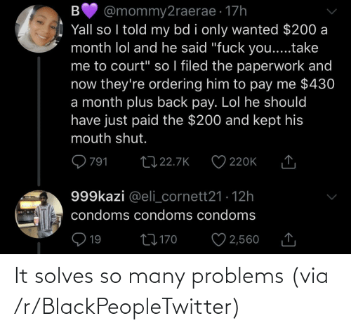 So Many: It solves so many problems (via /r/BlackPeopleTwitter)