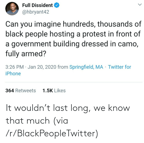 Blackpeopletwitter, Via, and  Know: It wouldn't last long, we know that much (via /r/BlackPeopleTwitter)