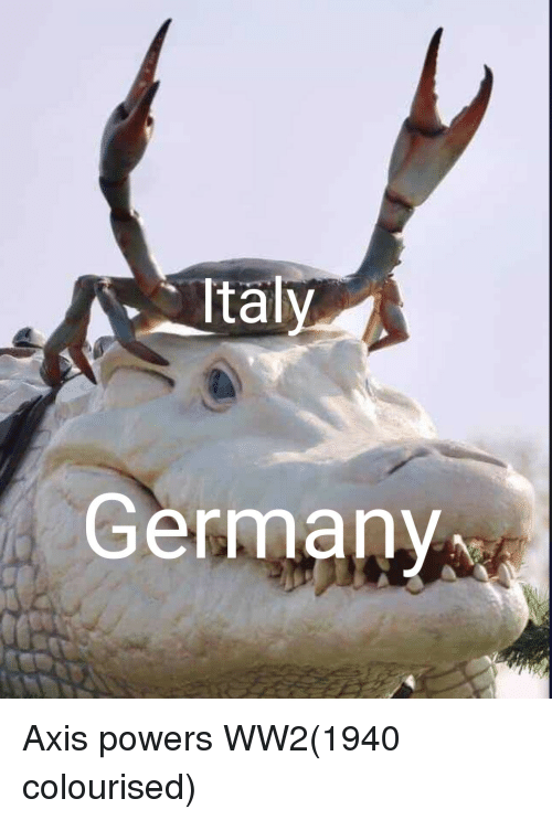 axis powers: Ital  Germany Axis powers WW2(1940 colourised)