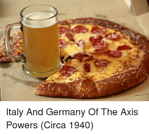 axis powers: Italy And Germany Of The Axis Powers (Circa 1940)